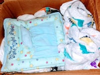 Box of baby boy stuff