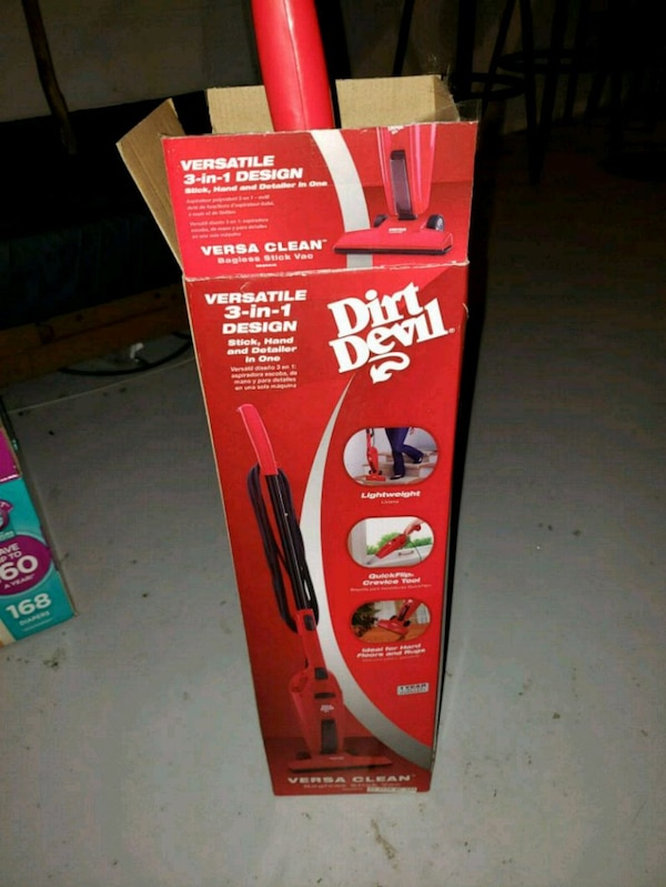 Used Red And White Dirt Devil Upright Vacuum Cleaner Box For Sale In