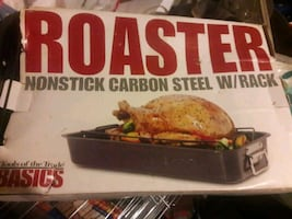 New nonstick turkey Roaster w/rack in the box