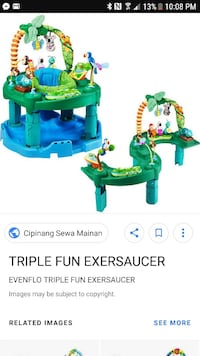 Even Flo exersaucer 3 in one and assorted toys Cambridge