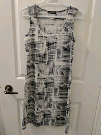 white and black sleeveless dress Markham, L3S