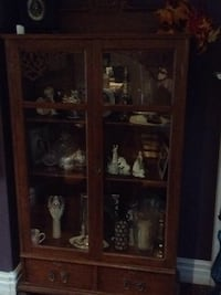 wooden framed glass display cabinet Brampton, L6S 2R6