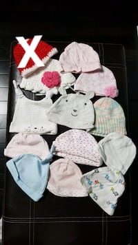 Newborn-6mths hats Whitby
