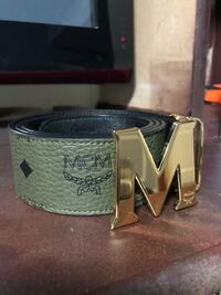 Olive Green MCM Reversible Designer Belt Size  [TL_HIDDEN]  Pickering, L1V