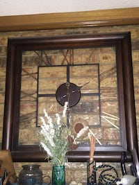 Brown wooden square wall clock Carrollton, 75006