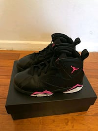 pair of black Air Jordan 7's with box Silver Spring, 20906