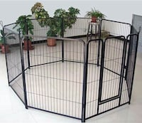 New in boc 40 inch tall x 32 inches wide each panel x 8 panels exercise playpen fence safety gate dog cage crate kennel for pet