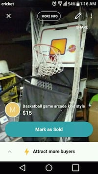 Basketball arcade style game Rossville, 30741