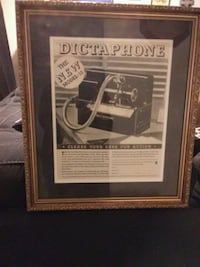 Dictaphone with brown wooden frame