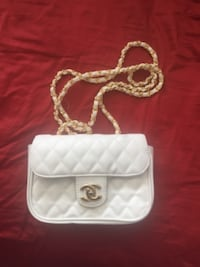 white leather Chanel crossbody bag Surrey