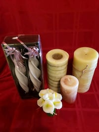 5 nice candles. Only one barely used.