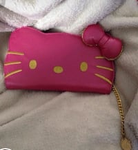pink and brown leather wristlet Kitchener, N2G 4T6