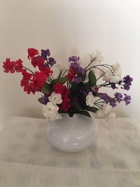 Artificial flowers Height: Approximate 20cm $5 each or all 3 for $10