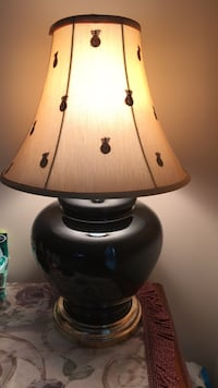 white and black table lamp Great Falls, 22066