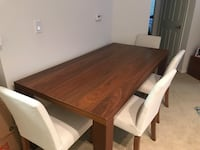 Rectangular brown wooden dining table (chairs not included) 2258 mi