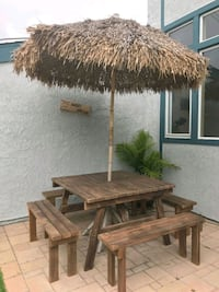 4 Foot Square Wooden Picnic table