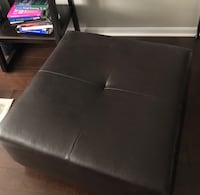 Leather ottoman Reston, 20190