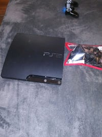 black Sony PS3 Slim with controller Quincy, 02171