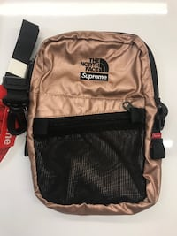 Supreme North Face Cross Bag Rose Gold Washington