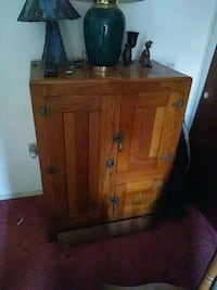 brown wooden cabinet with mirror North Fort Myers, 33903
