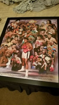 Boxing Greats Framed Poster Print Dover, 07801