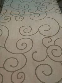 Table cloth. White and silver 5 ft by 82 inches Brampton, L6X 2V1