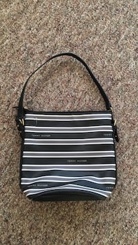 black and white stripe leather crossbody bag 3491 km