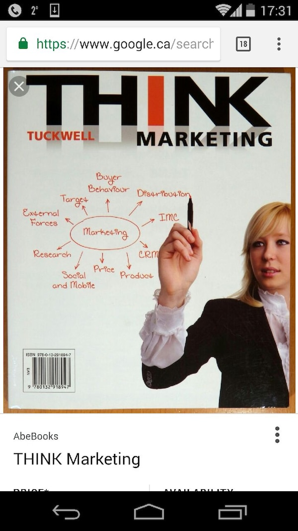 Think marketing 1st edition by Tuckwell