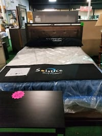 Queen bed with light up head board  Pineville, 28134