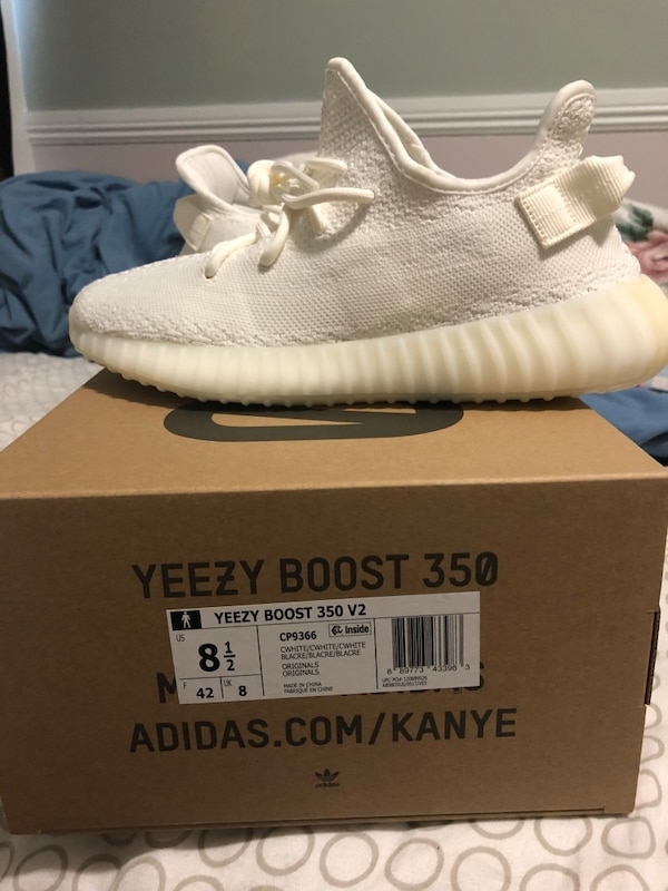 2d96fe1cf Used Pair of white adidas yeezy white size 8.5 for sale in San Francisco -  letgo