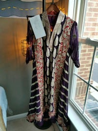 brown and black floral long-sleeved dress Stone Ridge, 20105