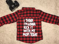 red and black plaid button-up shirt Junction City, 66441