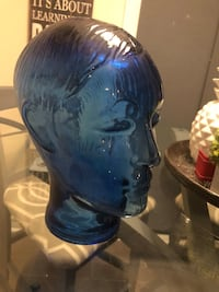 Vintage Blue Glass Store Display Mannequin with Hair   Courtice, L1E 0H5