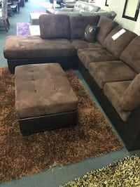 Brand new brown microfiber sectional with ottoman (chaise open to the right) Silver Spring, 20902