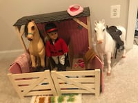 Horse's stall and horse with doll our generation Aldie, 20148