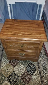 brown wooden 2-drawer nightstand Manassas