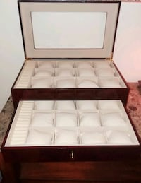 Cherrywood Watch Display case with and ring organizer