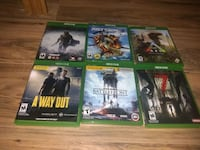 six Xbox One game cases Houston, 77037