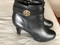 pair of black leather heeled booties Chevy Chase, 20815