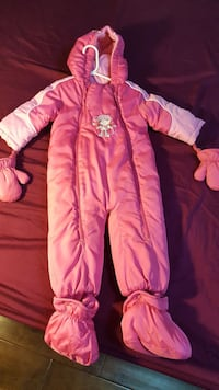 Like new baby winter coat with muffins  Markham, L3P 3J3