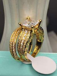 18k Gold Filled 2Pcs Wedding Ring Set Size 5,7,10