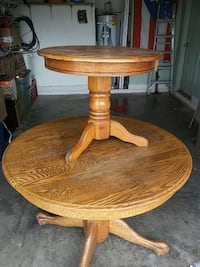 Real wood cofee table and 2 end tables