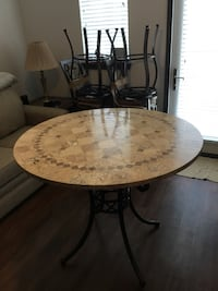Stone Mosaic Hightop Round Table and Four Chairs Nashville, 37208