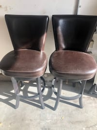 Leather/Wooden chairs