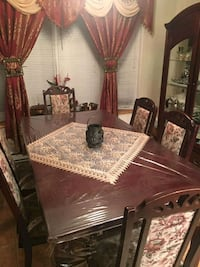 brown wooden dining table set Laval, H7R 1P8