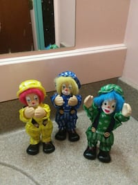 3 clowns set, multiple colors.  $9.50 Millersville, 17551