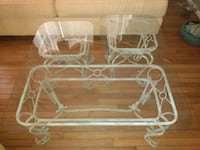 Glass coffee table & 2 glass side tables Catonsville