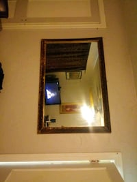 brown wooden framed wall mirror Oklahoma City, 73107