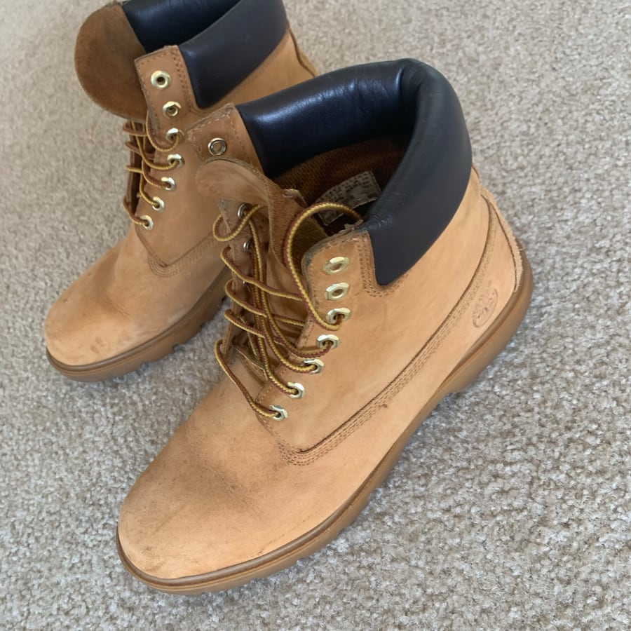 Mens Wheat Timberland Boots Size 11.5 (Used) ab7006fd-0171-4886-882d-b9c0b3ef2df9