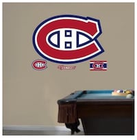 NHL Montreal Canadians Hockey Fathead Logo